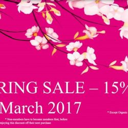 [Four Seasons Organic Market] Spring Sale for Members 31 March 2017 15% off !