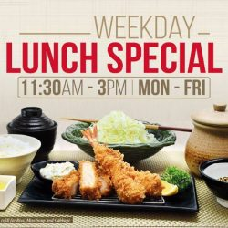 [Saboten] We're excited to launch weekday lunch sets, exclusively at 313@somserset branch!