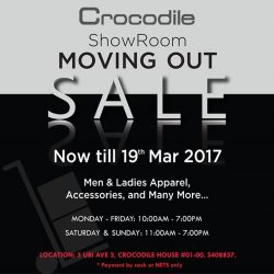 [Crocodile] Ubi Showroom Moving Out Clearance Sale.