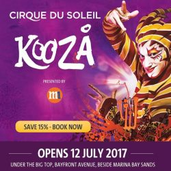 [SISTIC Singapore] KOOZA: Cirque du Soleil returns to Singapore with a new awe-inspiring production presented in the intimate setting of the