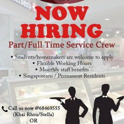 [Andersen's of Denmark Ice-Cream Singapore] We have vacancies at Nex Mall and Jurong Point outlets.