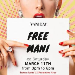 [Isetan] Pamper yourself with free manicure while doing some shopping at Vacation Style Pop Up.