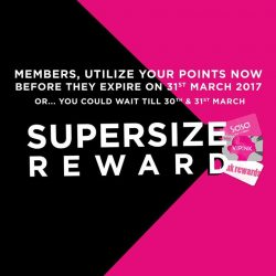 [Sasa Singapore] Members, leave no points behind because Supersize Reward is back by popular demand!