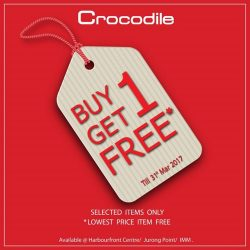 [Crocodile] We're now having Buy 1 Get 1 Free promotion.