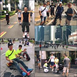 [Wheeli] Another wonderful day of wheeling action on Car Free Sunday SG.