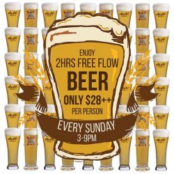 [District 10 Bar & Grill] Our UE Square outlet will be launching our first ever FREE FLOW 2HR BEER SUNDAY from 9th April onwards!