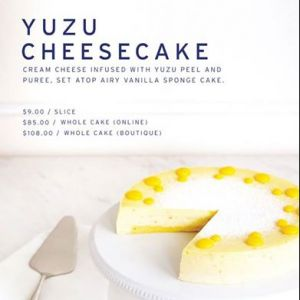 [Lady M Confections] The Yuzu Cheesecake has been a popular and delightful choice amongst both citron and cheese lovers so far!