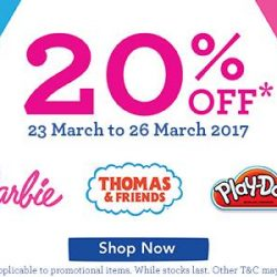 [Babies'R'Us] We are having a sale on Barbie, Thomas & Friends, and Play - Doh from today till the 26th of March!
