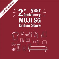 [MUJI Singapore] Last 2 days to enjoy our 2nd year Anniversary online promotions!