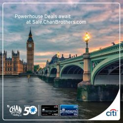 [Citibank ATM] Get up to S$1500 off 2nd pax or 2nd pax flies FREE for selected tours at Chan Brothers Travel