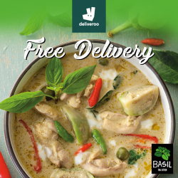 [Basil by ThaiExpress] Now, you can satisfy your Thai Food cravings anywhere with FREE delivery by Deliveroo.