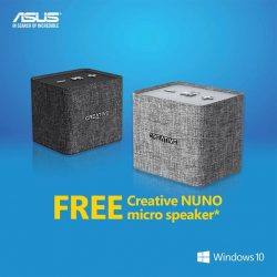 [ASUS] From now till 30 June, receive a FREE Creative NUNO micro speaker* when you purchase the ASUS Zenbook 3 UX390UA