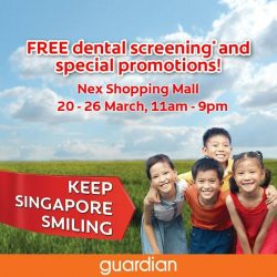 [Guardian] Get a FREE* dental screening when you visit Colgate's Oral Health Month roadshow at Serangoon NEX this weekend!