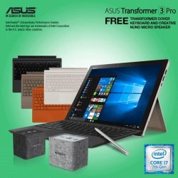 [ASUS] Receive a FREE Second Transformer Cover Keyboard (worth $169) with every purchase of the ASUS Transformer 3 Pro Notebook.