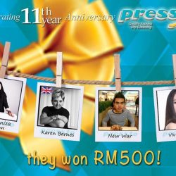 [Pressto Dry Cleaning] Congratulations to another week of winners that have just WON RM500 worth of vouchers!