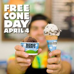 [Ben & Jerry's] Free Cone Day is coming April 4th!