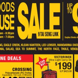 Tai Seng: Travel Goods Warehouse Sale Up to 90% OFF on Luggage, Winter Wear & Travel Accessories