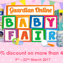 Guardian: Online Baby Fair - Enjoy Up to 40% OFF Milk Powder, Diapers, Baby Wipes & More!