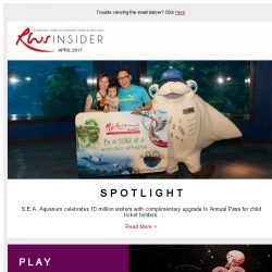 [Resorts World Sentosa] Free upgrade to S.E.A. Aquarium Child Annual Pass and other deals at Resorts World Sentosa