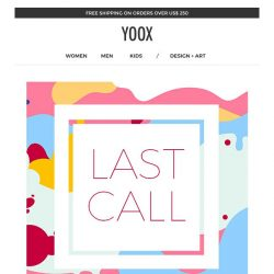 [Yoox] Season finale: EXTRA 25% off a wide sale selection