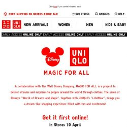 [UNIQLO Singapore] Exclusive Access into the magical world of Disney!