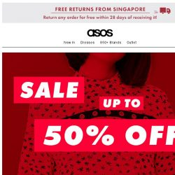 [ASOS] Up to 50% off in three, two, one… ??