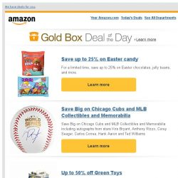 [Amazon] Save up to 25% on Easter candy