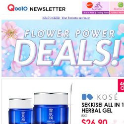 [Qoo10] Last Day Flower Power Deal!! Limited 100 Qty Kose All-In-One Cream $26.90