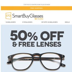 [SmartBuyGlasses] Frames with free lenses from only S$67.95 🔥