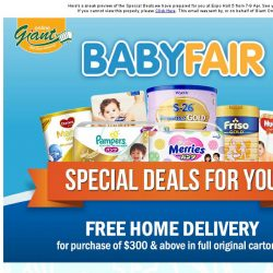 [Giant] Special Deals For You @ 👶 Baby Fair Expo Hall 5 🍼, 7-9 Apr. Don't Miss it!