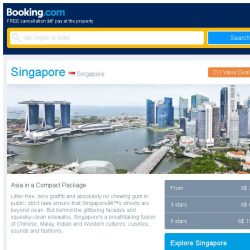 [Booking.com] Prices in Singapore are the lowest we've seen in 4 days!