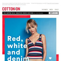 [Cotton On] Red, white and new!