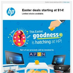 [HP Singapore]  [Adjusted pricing] Grab these $14 Easter deals