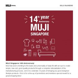 [Muji] Celebrating 14 Years of MUJI Singapore
