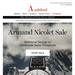 [Ashford] Armand Nicolet Sale Starts Today