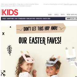 [Cotton On] On the hunt for Easter outfits? We have a collection full of BUNNY styles