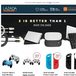 [Lazada] 2 Is Better Than 1!