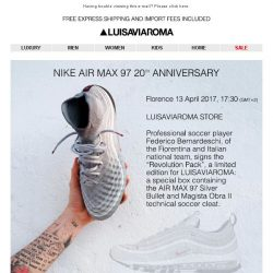 [LUISAVIAROMA] AIR MAX 97 Silver Bullet. Don't Miss Out.