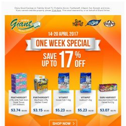 [Giant] ⭐️ONE WEEK SPECIAL✨ 💰 17% OFF on Giant Exclusive Brand and more...