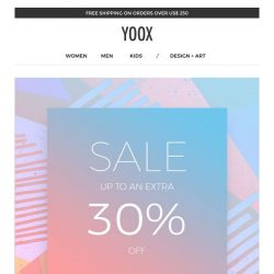 [Yoox] The sale is starting: up to an EXTRA 30% off