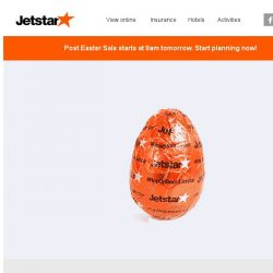 [Jetstar] 🐰 Something egg-citing is coming... Get ready for your Post Easter treats!