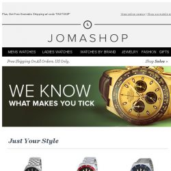 [Jomashop] We picked a few items for you