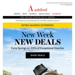 [Ashford] Extra Week Of Savings!