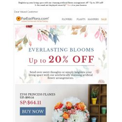 [FarEastFlora] Brighten up your living space with our stunning artificial flower arrangements – Up to 20% off!