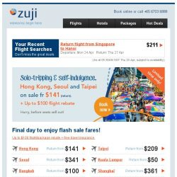 [Zuji] Massive discounts! Seoul and more fr $141 only.
