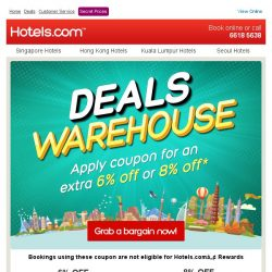 [Hotels.com] Grab a bargain + your coupon now!