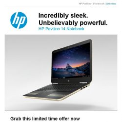 [HP Singapore]  The Sleek, Light and Powerful Pavilion AL108TX@$1,099