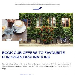 [Finnair] Limited time offers to Europe –Copenhagen from 899 SGD