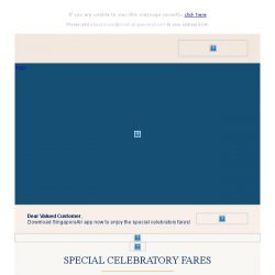 [Singapore Airlines] 70th anniversary celebratory fares from SGD70