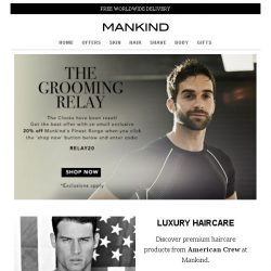 [Mankind] 20% off - The Grooming Relay